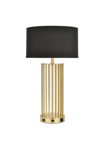 ZC121-TL3010 - Regency Decor: Brio Collection 1-Light Brushed Brass Finish Table Lamp