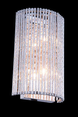ZC121-V2092W7C/RC - Regency Lighting: Influx 2 light Chrome Wall Sconce Clear Royal Cut Crystal