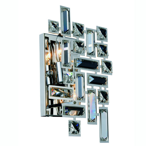 ZC121-V2100W12C/RC - Regency Lighting: Picasso 2 light Chrome Wall Sconce Clear Royal Cut Crystal