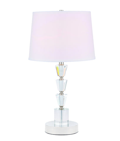 ZC121-TL3028PN - Regency Decor: Jean 1 light Polished Nickel Table Lamp