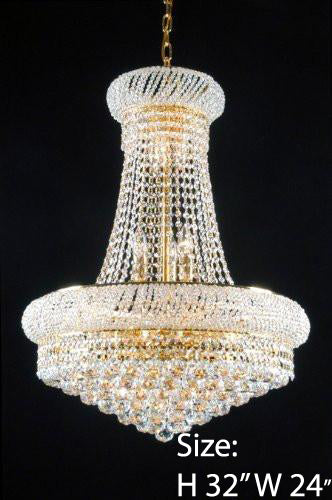 New French Empire Crystal Chandelier 24X32 - A93-542/15