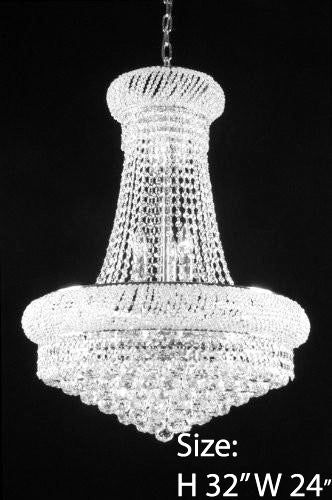 New French Empire Crystal Chandelier 24x32 A93 Silver 542 15 Gallery Chandeliers