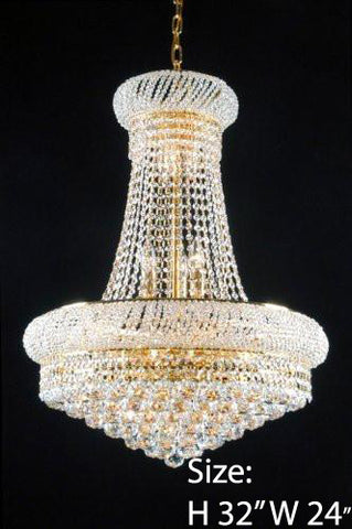 Swarovski Crystal Trimmed Chandelier New French Empire Crystal Chandelier 24X32 - F93-Cg/542/15Sw