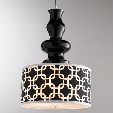 Modern Black Glass Table Lamp Pendant - F100-585