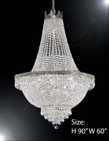 "Empire Chandelier Empress Crystal Chandelier Lighting H90"" W60"" - A93-Cs/870/48"
