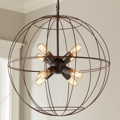 Young House Love Large Wire Globe Sputnik Chandelier - F100-318