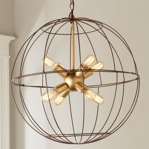 Young House Love Large Wire Globe Sputnik Chandelier - F100-317