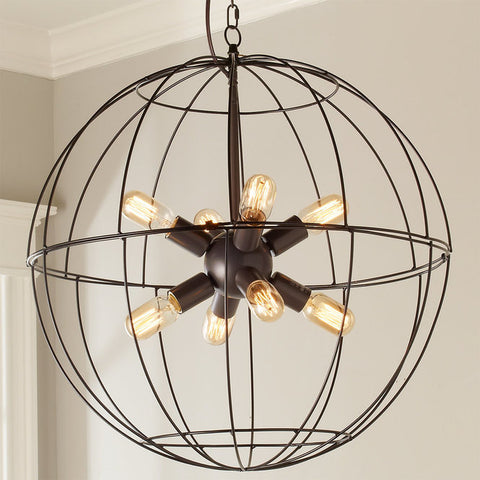 Young House Love Large Wire Globe Sputnik Chandelier - F100-316
