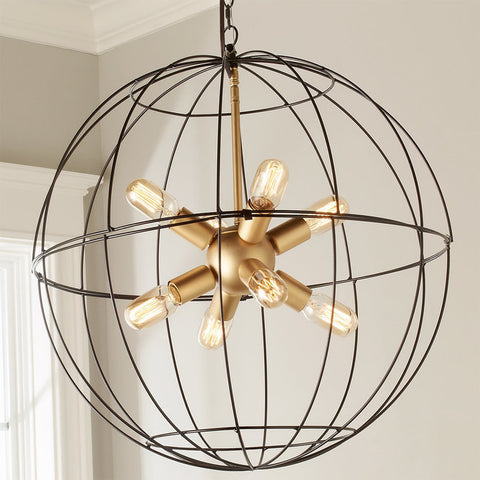 Young House Love Large Wire Globe Sputnik Chandelier - F100-315