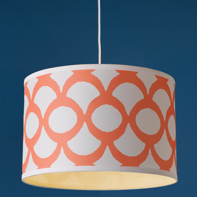 Young House Love Scallop Print Drum Shade Pendant 16 - F100-513