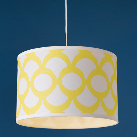 Young House Love Scallop Print Drum Shade Pendant 16 - F100-514