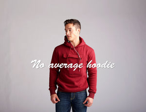 Red Pocket It Hoodie by UrbanKangster