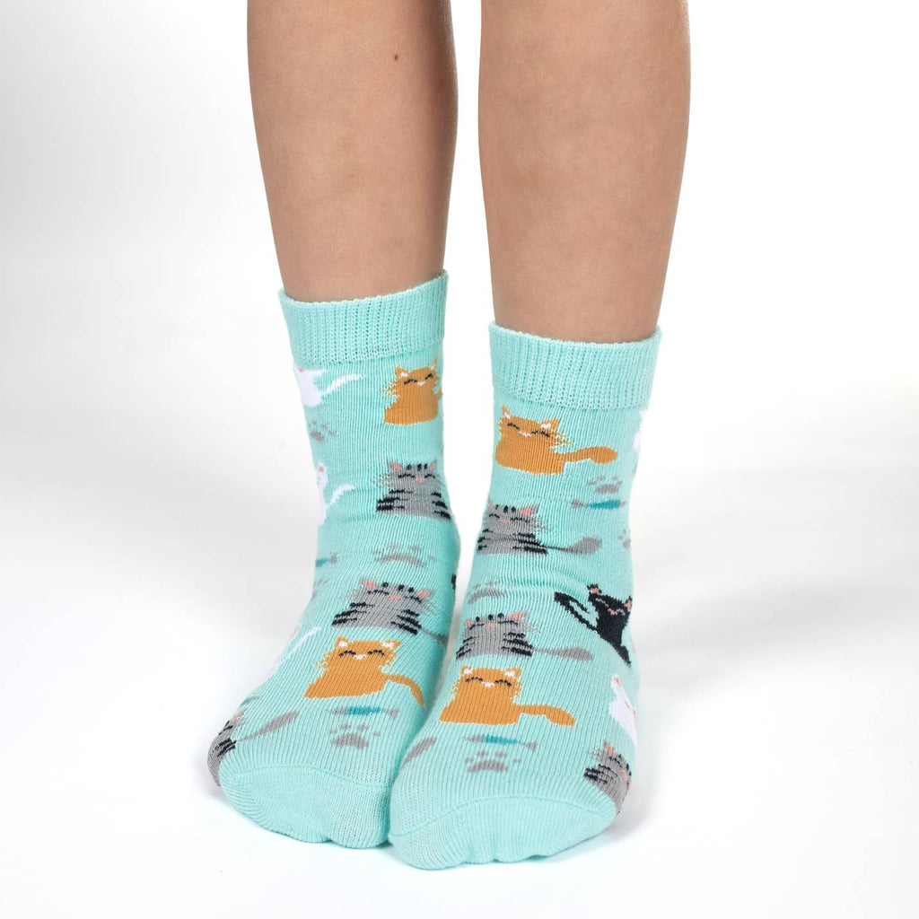 Cats, Koala and Octopus Kids Socks