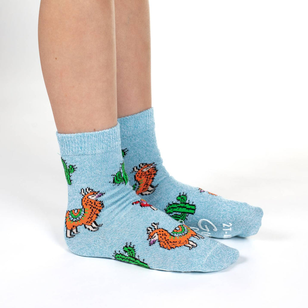 Llamas, Unicorns and Whales Kids Socks