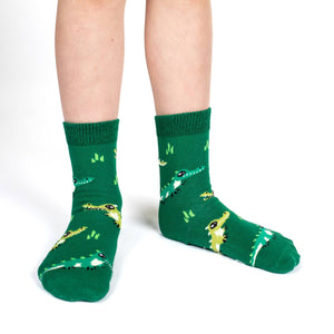 Hippopotamus, Crocodiles and Dinosaurs Kids Socks