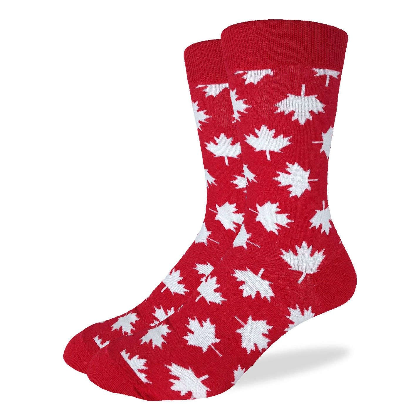 Men's King Size Canada Maple Leaf Socks - Good Luck Sock