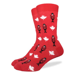 Men's Canadian Mounties Socks - Good Luck Sock