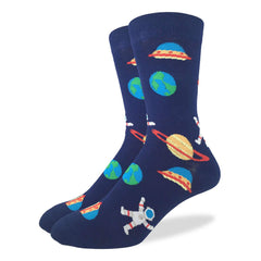 Men's King Size Space Socks - Good Luck Sock