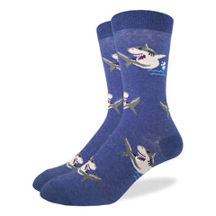 Men's Shark Socks - Good Luck Sock