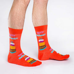 Men's Happy Birthday Socks - Good Luck Sock