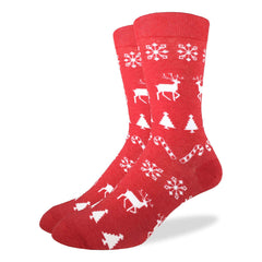 Men's Christmas Holiday Socks - Good Luck Sock