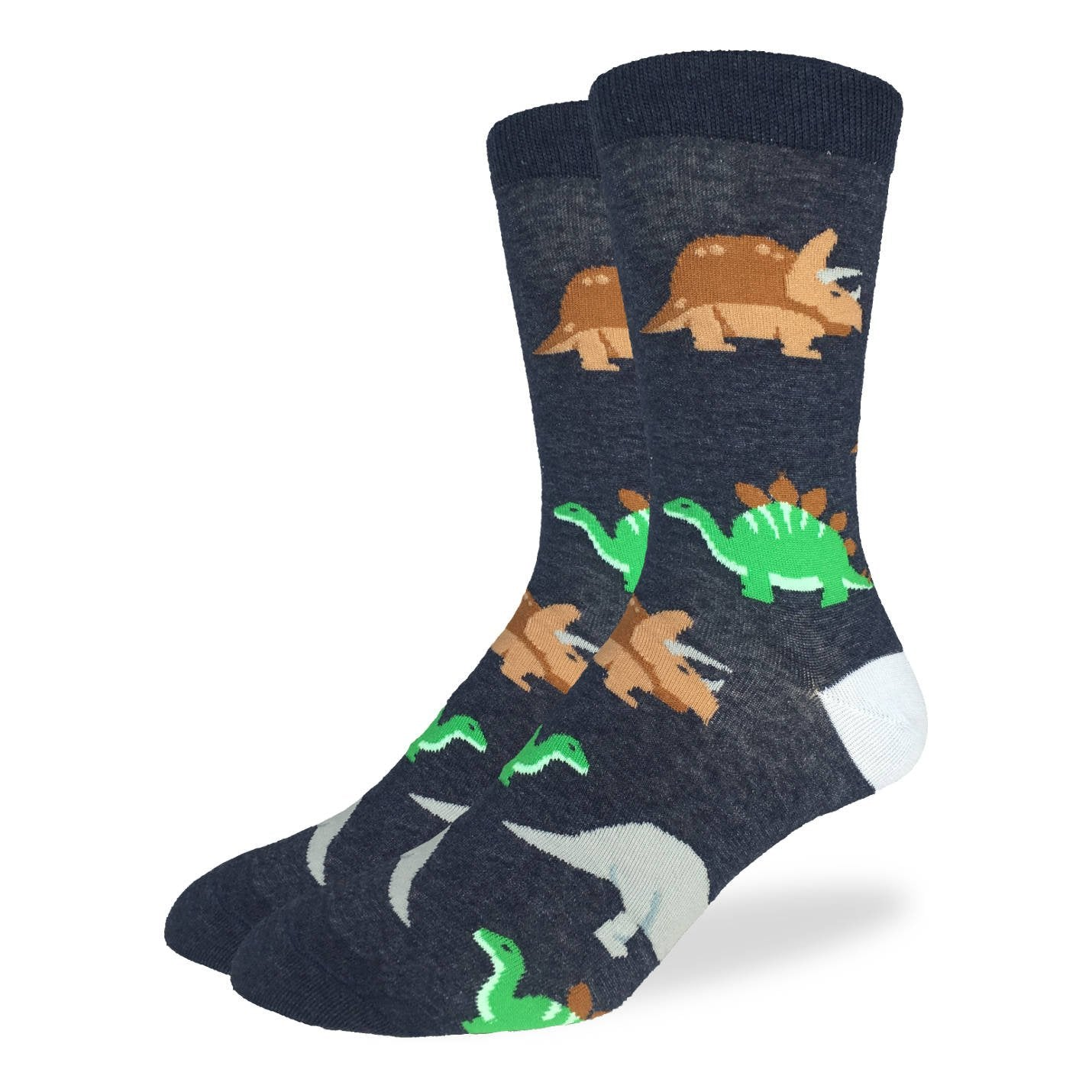 Men's King Size Jurassic Dinosaurs Socks - Good Luck Sock