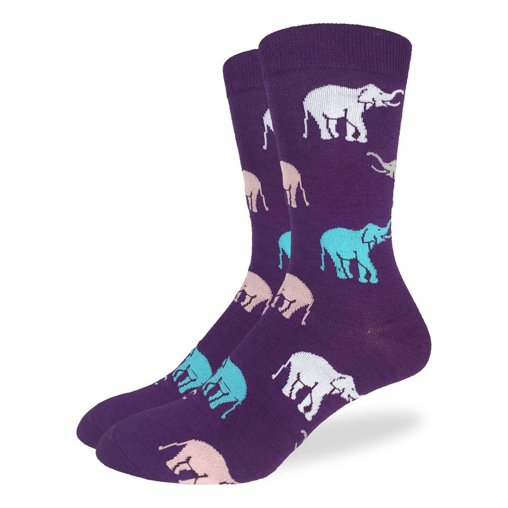 Men's Purple Elephants Socks
