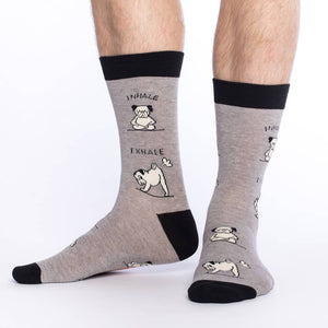 Men's King Size Yoga Pug Socks