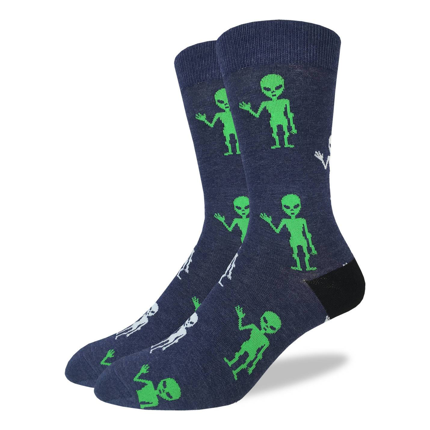 Men's King Size Aliens Socks - Good Luck Sock