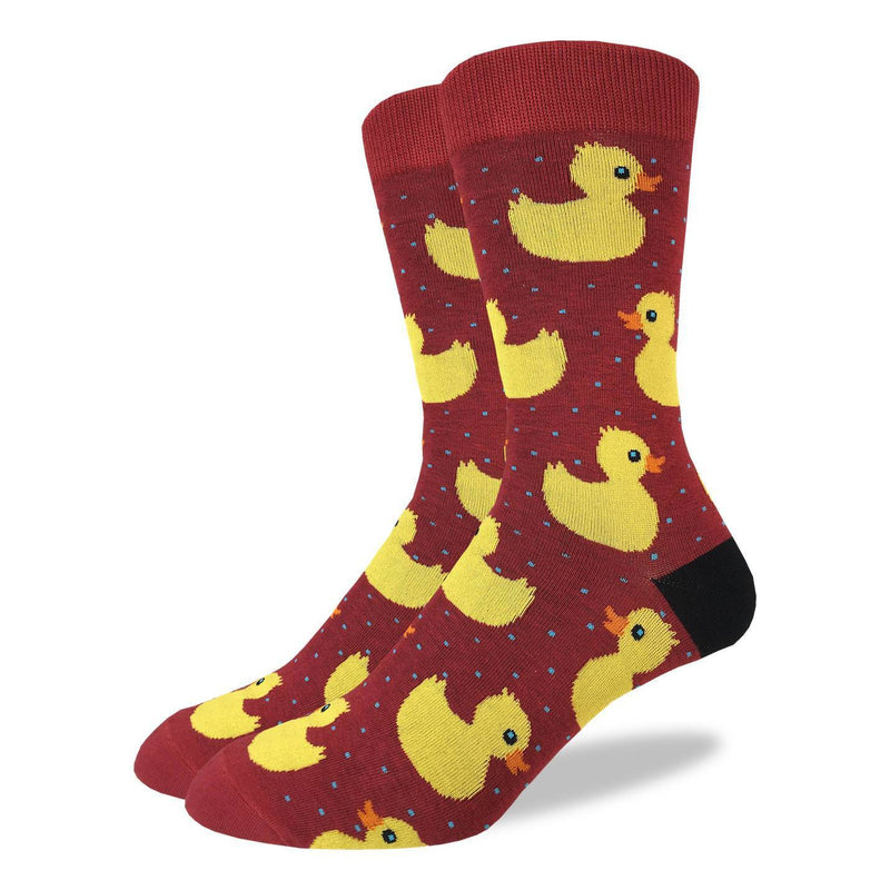 Men's King Size Rubber Ducks Socks