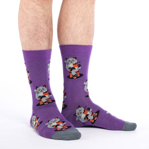 Men's Morning Coffee Cat Socks
