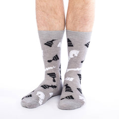 Men's King Size Chess Socks - Good Luck Sock