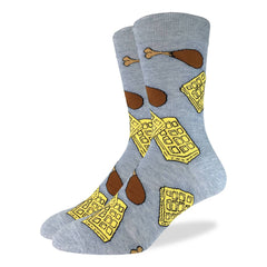 Men's King Size Chicken & Waffles Socks - Good Luck Sock