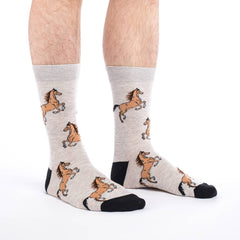Men's Horses Socks - Good Luck Sock
