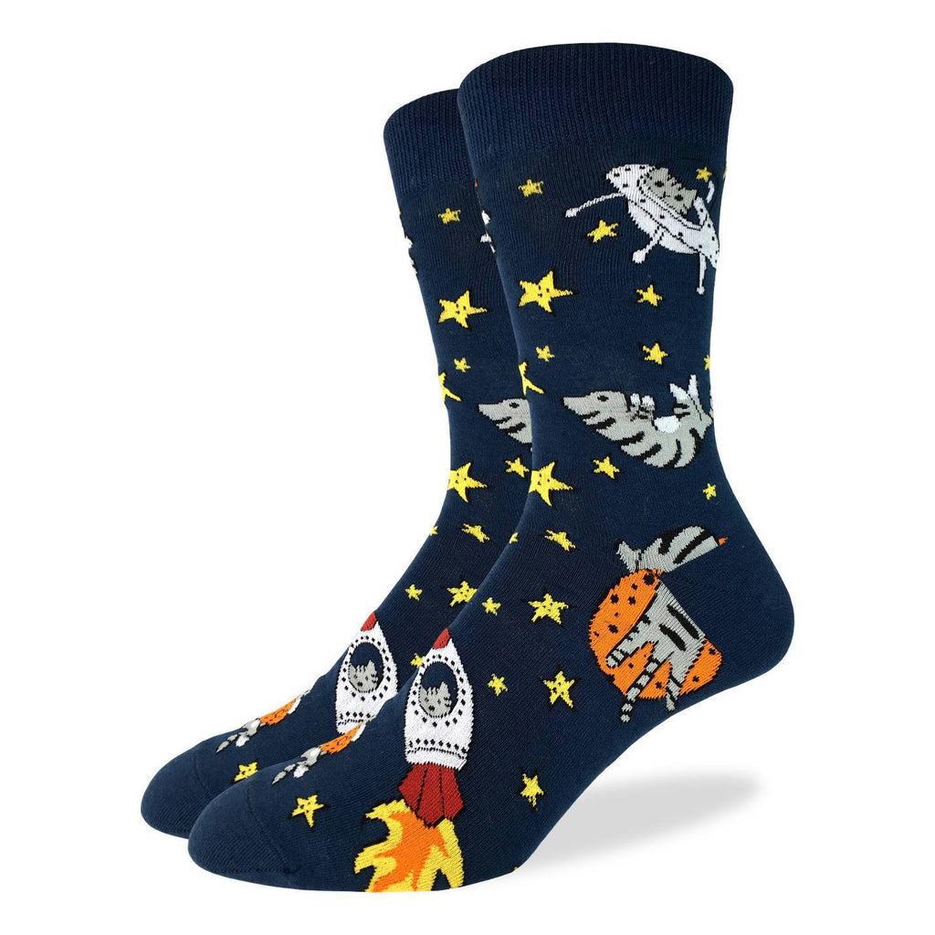 Men's King Size Space Cats Socks