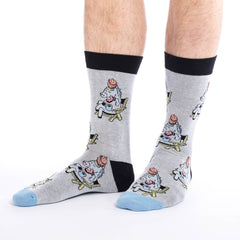 Men's Donut Eating Unicorn Socks - Good Luck Sock