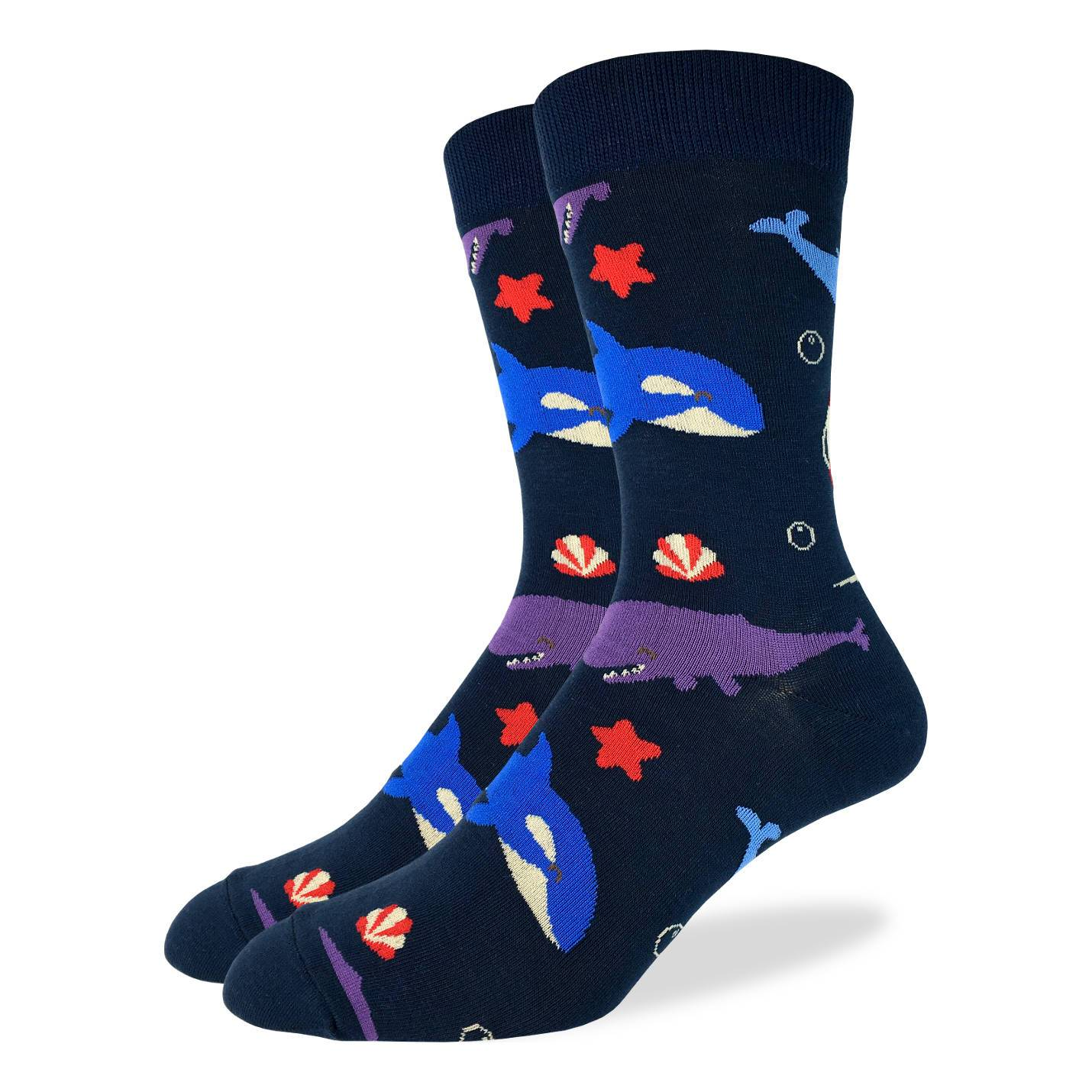 Men's Whales Socks - Good Luck Sock