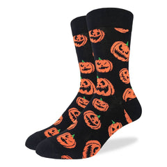 Men's Halloween Pumpkins Socks - Good Luck Sock