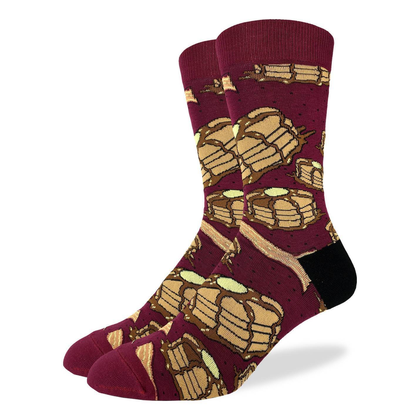 Men's Pancakes with Bacon Socks - Good Luck Sock