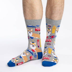 Men's Corgi's in London Socks