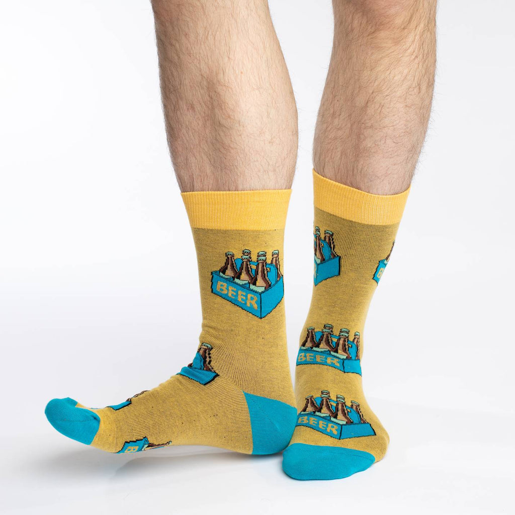 Men's King Size Six Pack of Beer Socks