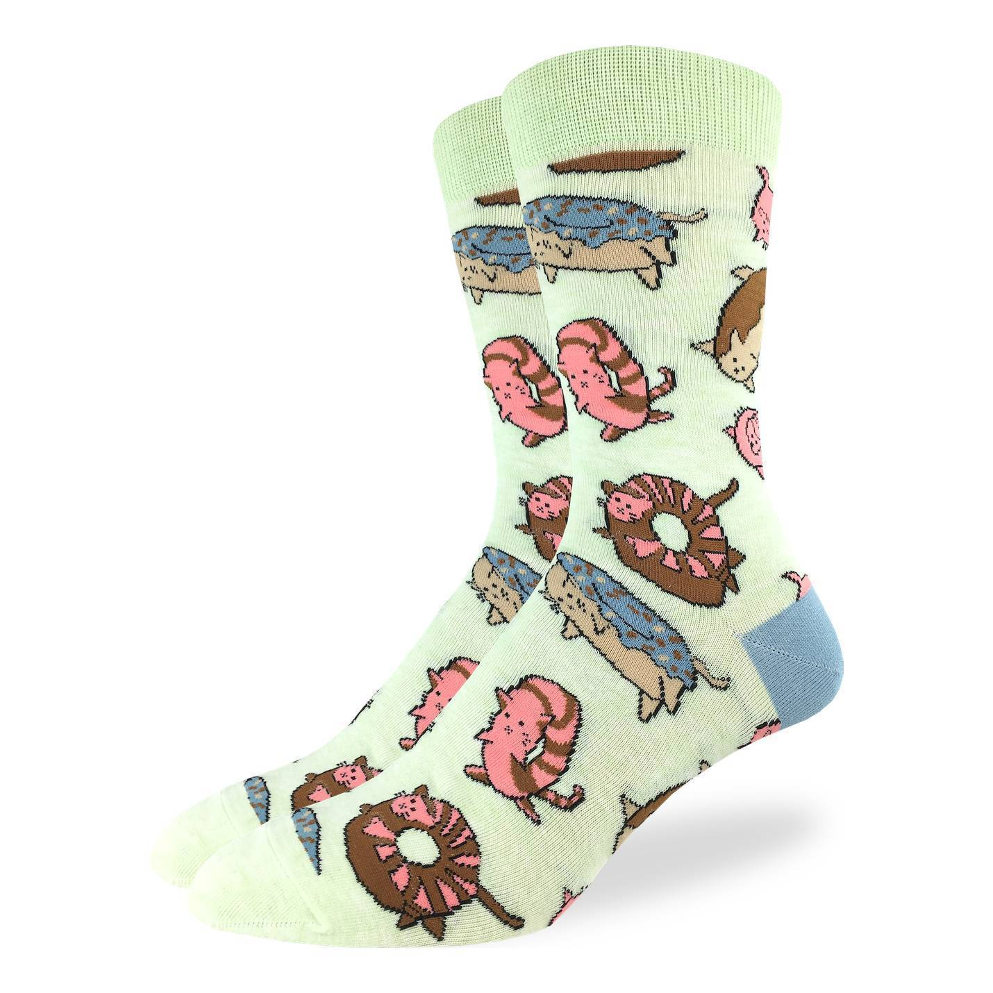 Men's Donut Cats Socks - Good Luck Sock