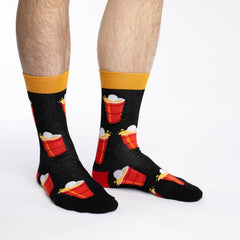 Men's King Size Beer Pong Socks - Good Luck Sock