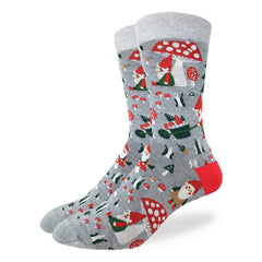 Men's Woodland Gnomes Socks - Good Luck Sock