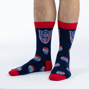 Men's Vote Democrat Socks