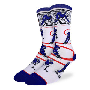 Men's Hockey, Blue & White Socks