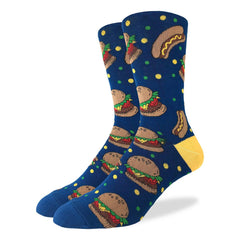 Men's King Size Burgers & Hotdogs Socks - Good Luck Sock