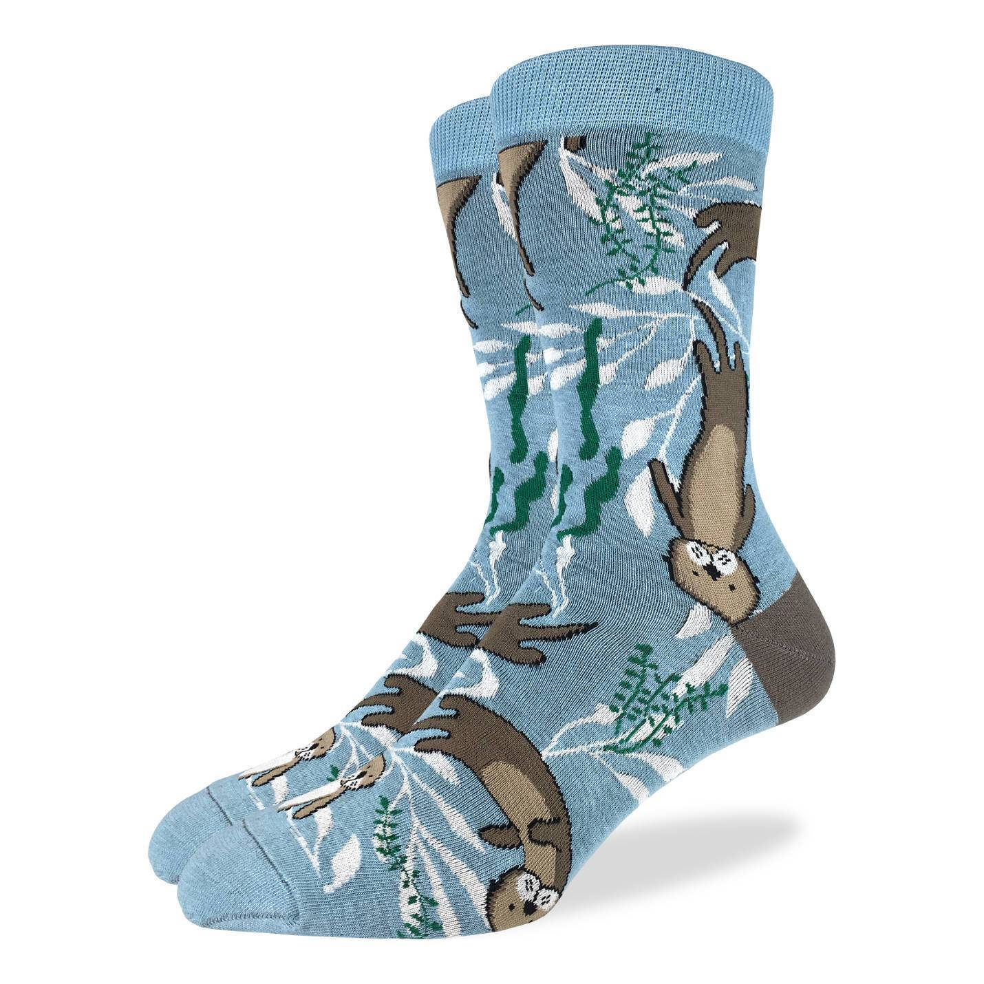Men's King Size Sea Otter Socks - Good Luck Sock