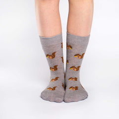 Women's Squirrel Socks - Good Luck Sock