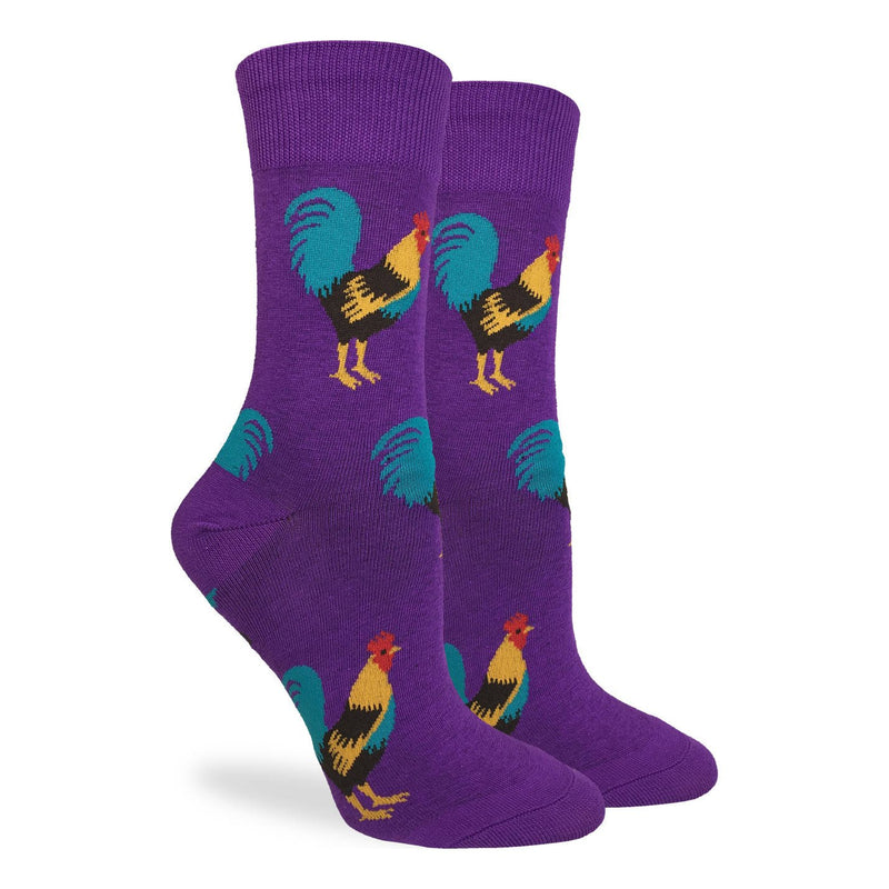 Women's Purple Rooster Socks